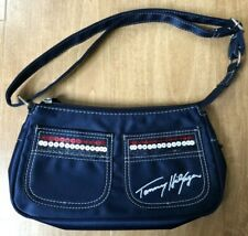 Vintage Tommy Hilfiger Navy Sequined Clutch Small Purse Bag