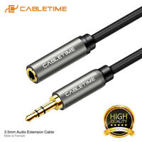 Cabletime Stereo 3.5mm Audio Jack Extension Cable Male to Female Headphone Aux