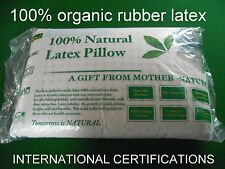 pillow FIRM 100% natural latex, & 100% cotton inner cover  60*40*12.5CM 1.5 kg