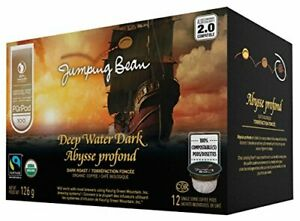 Jumping Bean Deep Water Dark Coffee, 12 Count {Imported from Canada}