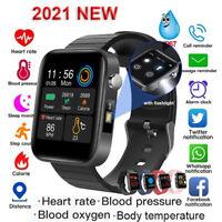 Smart Watch Men Women Smartband Body Temperature Blood Oxygen /Pressure Monitor