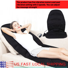 8 Modes Massage Chair Heated Back Seat Massager Cushion Car Home Relax [GIFT]