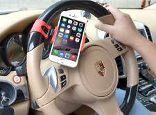 Mobile phone Steering Wheel Mount Bracket Holder Clip Android iPhone Black