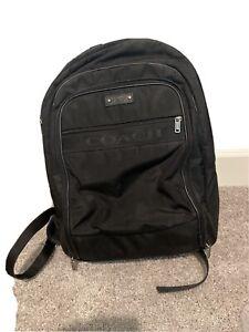 Used Black Coach Backpack