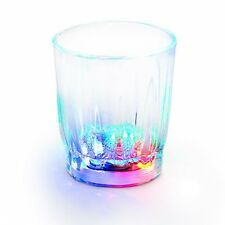 New 4 x Re Usable Plastic LED Flashing Shot Glasses Parties Weddings birthdays