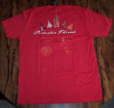NEW Mens L T-Shirt PRIMITIVE THREADS Red Short Sleeve ARROW HEADS Tribal NWT