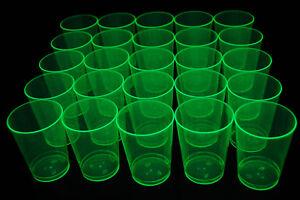 50 Ct Neon Blacklight Reactive 10oz Party Cups + 5 Blacklight Balloons Glow Fun