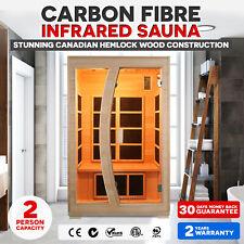 Brand New Luxo Valo 2 Person Canadian Hemlock Carbon  Fibre Far Sauna Cabin