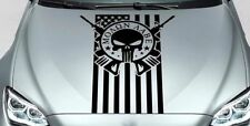 PUNISHER skull MOLON LABE US hood side vinyl decal sticker jeep wrangler