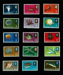 Barbados: 1966, Marine Life, Fish,  definitive, sideways watermark  MNH set.