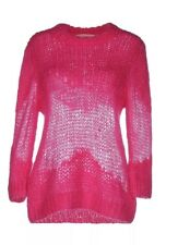 $250 MICHAEL KORS M Pink Mohair Oversized Abstract Textured Knit Sweater