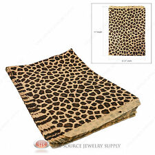 "100 Leopard Print Gift Bags Merchandise Bags Paper Bags 8 1/2""x 11"""