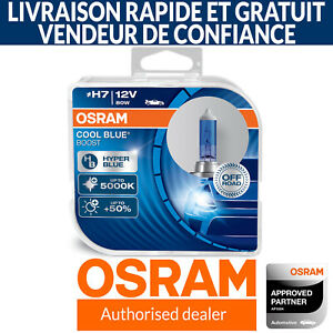 OSRAM Cool Blue Boost H7 Car Headlight Bulb (Twin) 62210CBB-HCB 80W 5000K