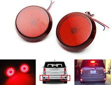2x Red Lens LED Rear Bumper Reflector Tail Brake Stop Light for Toyota Scion
