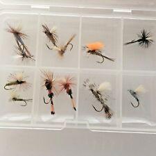 truite dry mouches Noir Parachute Carex Hi visible pêche à la mouche, sans ardillon
