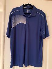 Cutter & Buck CBUK Blue with White Stripe S/S Golf Polo XXL (P2)
