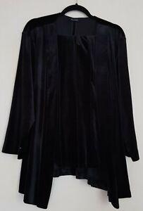 Evans black Velvet jacket and trousers, size 24/26, never worn