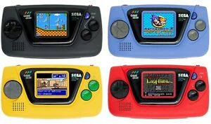 SEGA GAME GEAR MICRO BLACK BLUE YELLOW RED Microconsole 1.15 inch 240 x180 pixel