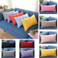 30*50cm Home Rectangle Cushion Cover Silk Throw Pillow Rectangular Pillowcase UK