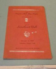 1953 Virginia Beta Sigma Phi Sorority Sweetheart Ball Program Alpha Beta Chapter