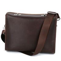 Men's Vogue Leather Messenger Briefcase Laptop Shoulder Crossbody Bag Handbag