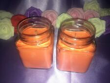 2x INDULGENT CHOCOLATE ORANGE SCENTED CANDLES NATURAL SOY WAX LUXURY JAR