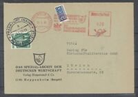 Bund, Brief 1950 von der Ausslandsstelle für den Absender nachfrankiert (26081)
