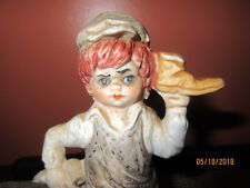 "Frankel: 6.25"" Boy Figurine: Shoe in Hand (Shoe Repair or Shoe Shine)"