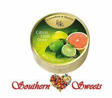 Cavendish and Harvey Citrus Fruit Drops C&H Citrus Fruit tins candy lollies 10ct