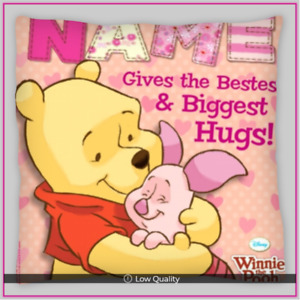 Winnie The Pooh & Piglet Personalised Cushion cover