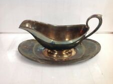 Signed ~ GORHAM ~ Vintage ~ Silver Plated ~ Gravy ~ Boat ~ Made In England