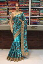 Bollywood Indian Traditional Ethnic Women Art Silk Saree Sari Bridal Party Dress
