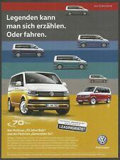 "VOLKSWAGEN Multivan 70 Years ""Generation Six"" - 2017 Automotive German Print Ad"