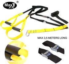 MaxGym® Trainer. Suspension straps training. Body trainer. MMA Trainer-yellow