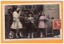 JOUETS D'ENFANT , FILLETTE & POUPEE de BONNE ANNEE début 1900