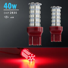 2X 7443 7440 Red 40W High Power 68-LED SMD Brake Tail Stop Light Bulbs