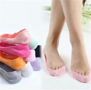 Summer Women Fashion Cotton Antiskid Invisible Liner No Show Low Cut Socks Lot