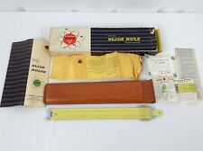 Pickett Slide Rule Model N 1010 Es with Leather Case and Manual Vintage
