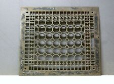 Vintage Cast Iron 14 x 16 Ornate Wall Floor Heating Vent Register GRATE COVER