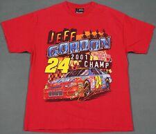 Jeff Gordon Vintage 2001 NASCAR Winston Cup Champ T-Shirt Medium Chase Authentic