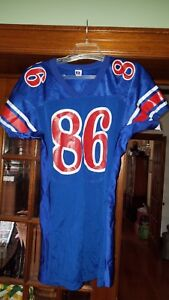 Football VINTAGE russell Jersey #86 Size Large nylon retro red white blue USA
