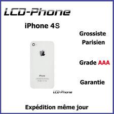 Vitre arrière iPhone 4S Blanc + Logo + IMEI