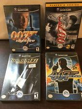 Nintendo Gamecube, 007, 4 Game Lot, Nightfire, Rogue, Under Fire, Everything
