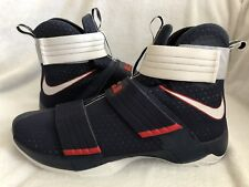 reputable site 2d349 c9222 Nike LeBron Soldier X 10 SFG USA Olympics Obsidian White 844378 416 Size 18  US