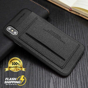ID Card Holder Wallet Leather kickstand Slim Bumper Armor Case For Apple iPhone