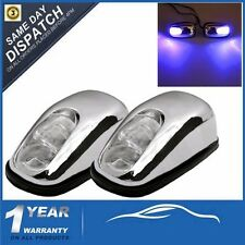 2x Chrome Blue LED Neon Light Front Windshield Jet Nozzle Spray Wiper Washer Eye