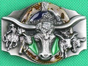 "Belt Buckle ""COWBOY"" Rodeo, Custom Made to Fit 4 cm Belt, DIY, Metal Casting"
