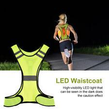 Chaleco reflectante LED de color amarillo fluorescente de funcionamiento al aire