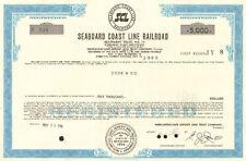 Seaboard Coast Line Railroad > CSX stock certificate SCL bond