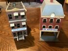 Vintage HO Scale Fire Department And Hotel. Built As Shown